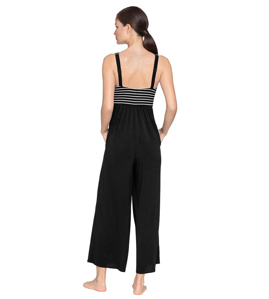 SAILOR STRIPE JUMPSUIT ROBIN PICCONE 203449-B/W