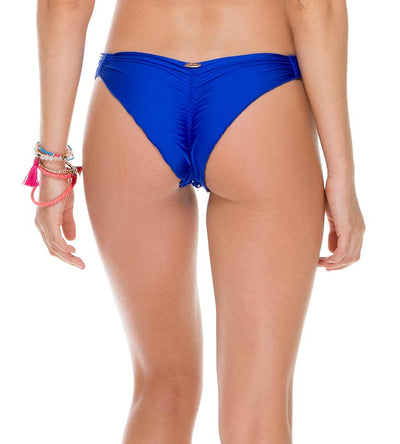 SAILOR'S KISS ELECTRIC BLUE STRAPPY BRAZILIAN RUCHED BOTTOM LULI FAMA L50620-340