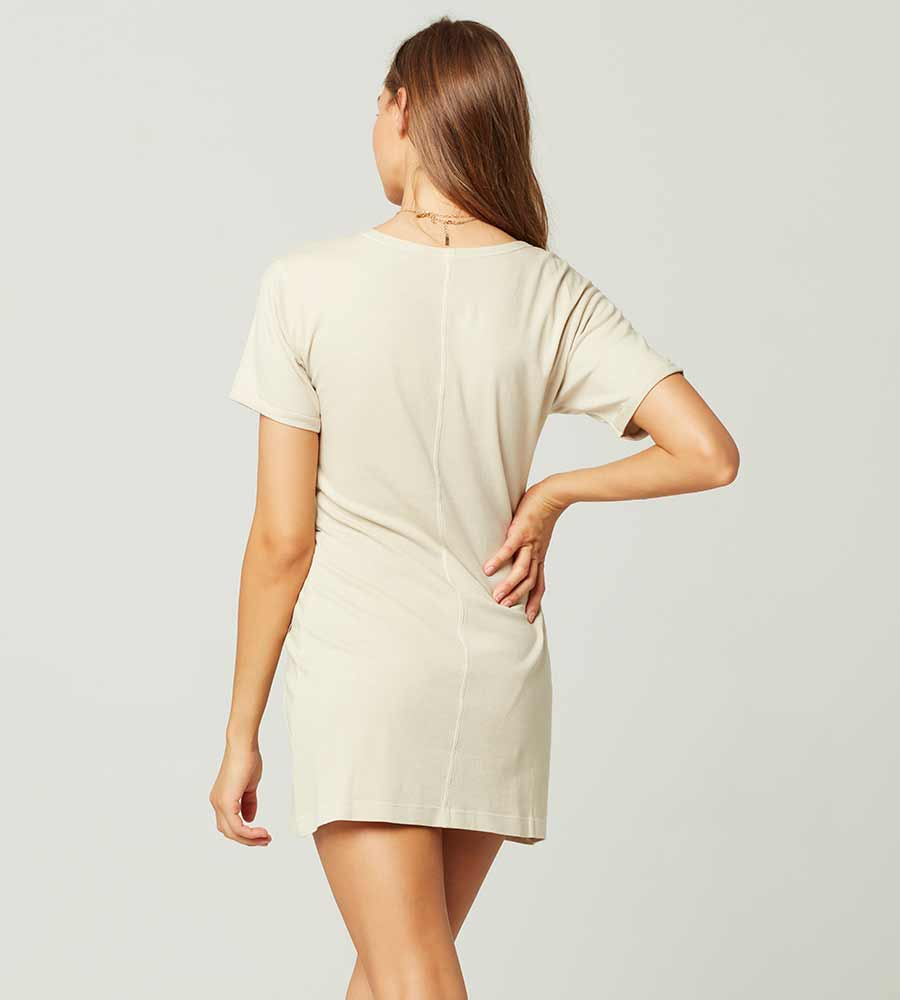 SAND BEACHWOOD DRESS BY LSPACE