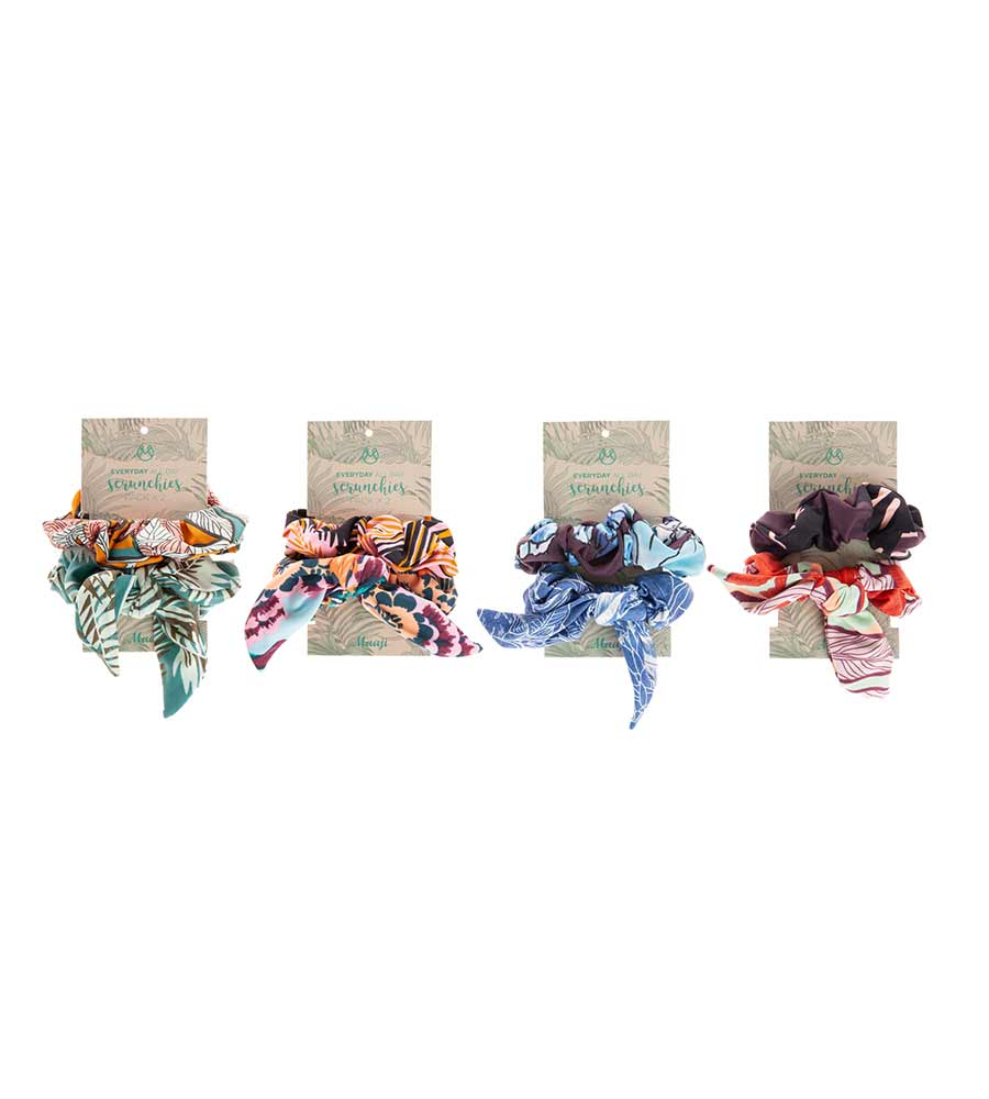 SCRUNCHIES - 2 PACK - ASSORTED PRINTS BY MAAJI