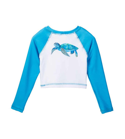 SEA TURTLE CROP RASHGUARD AZUL 7038