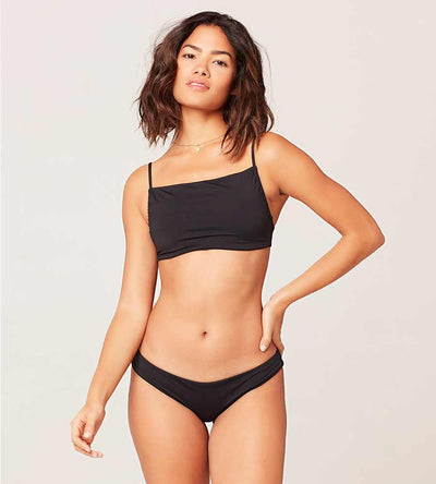 SENSUAL SOLIDS BLACK SPLASH TOP LSPACE LSSPT20-BLK