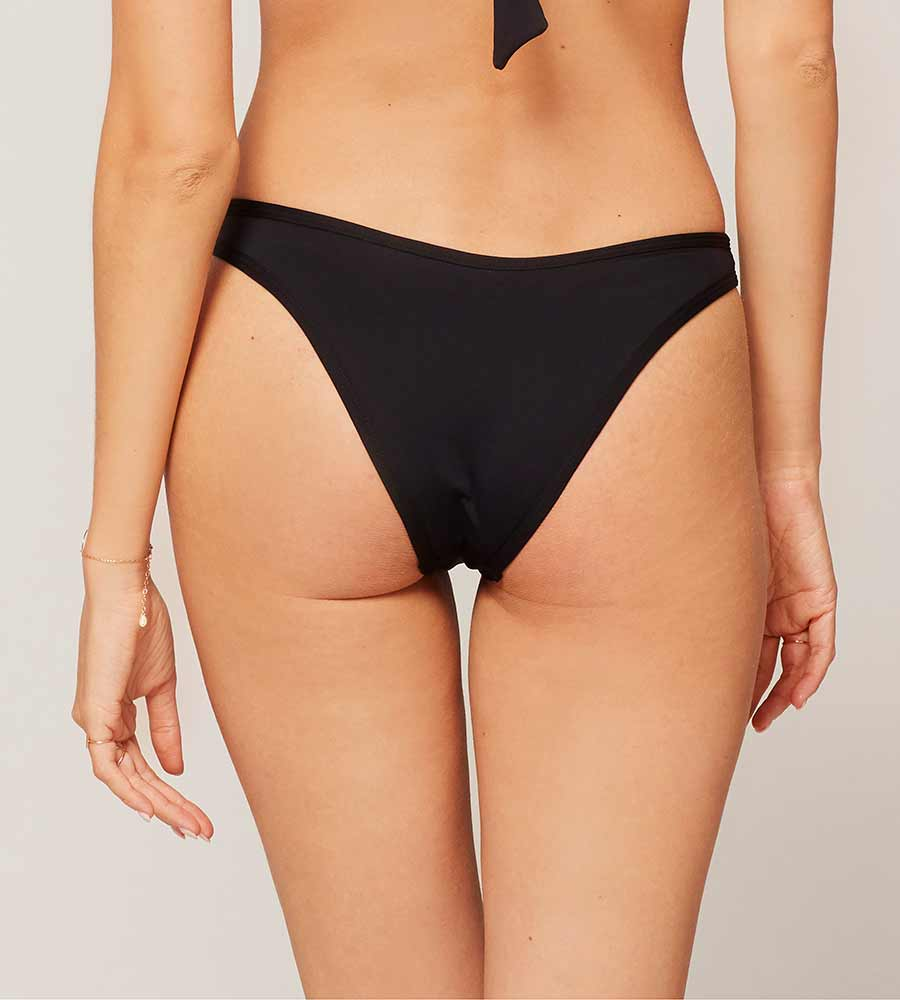 SENSUAL SOLIDS BLACK WHIPLASH BOTTOM BY LSPACE
