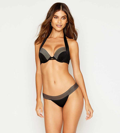 SHEER ADDICTION BLACK PUSH UP TOP BEACH BUNNY B12125T7-BLCK
