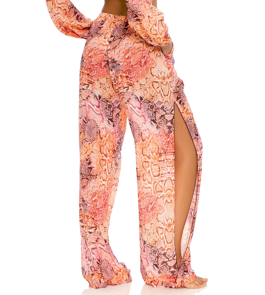 SKINS CORAL SPLIT SIDE PANT BY LULI FAMA