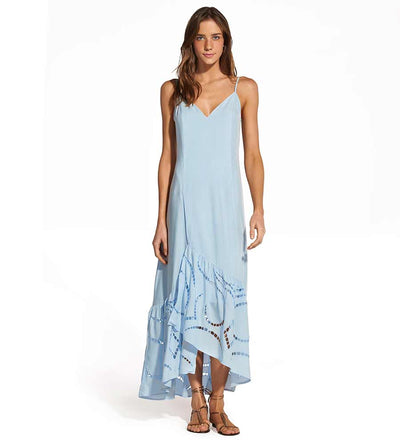 SMOKE BLUE ELMA LONG DRESS VIX 296-406-051