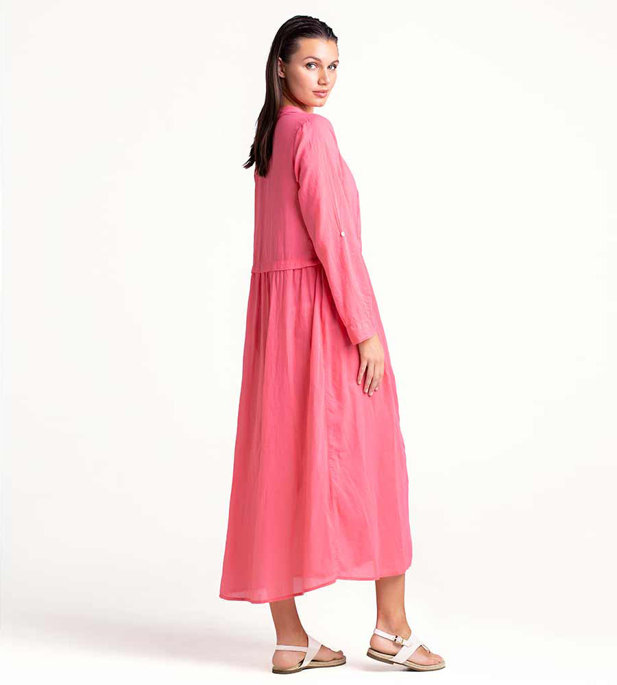 SUN KISSED CORAL MAXI BUTTON DRESS TOUCHE 0F43001