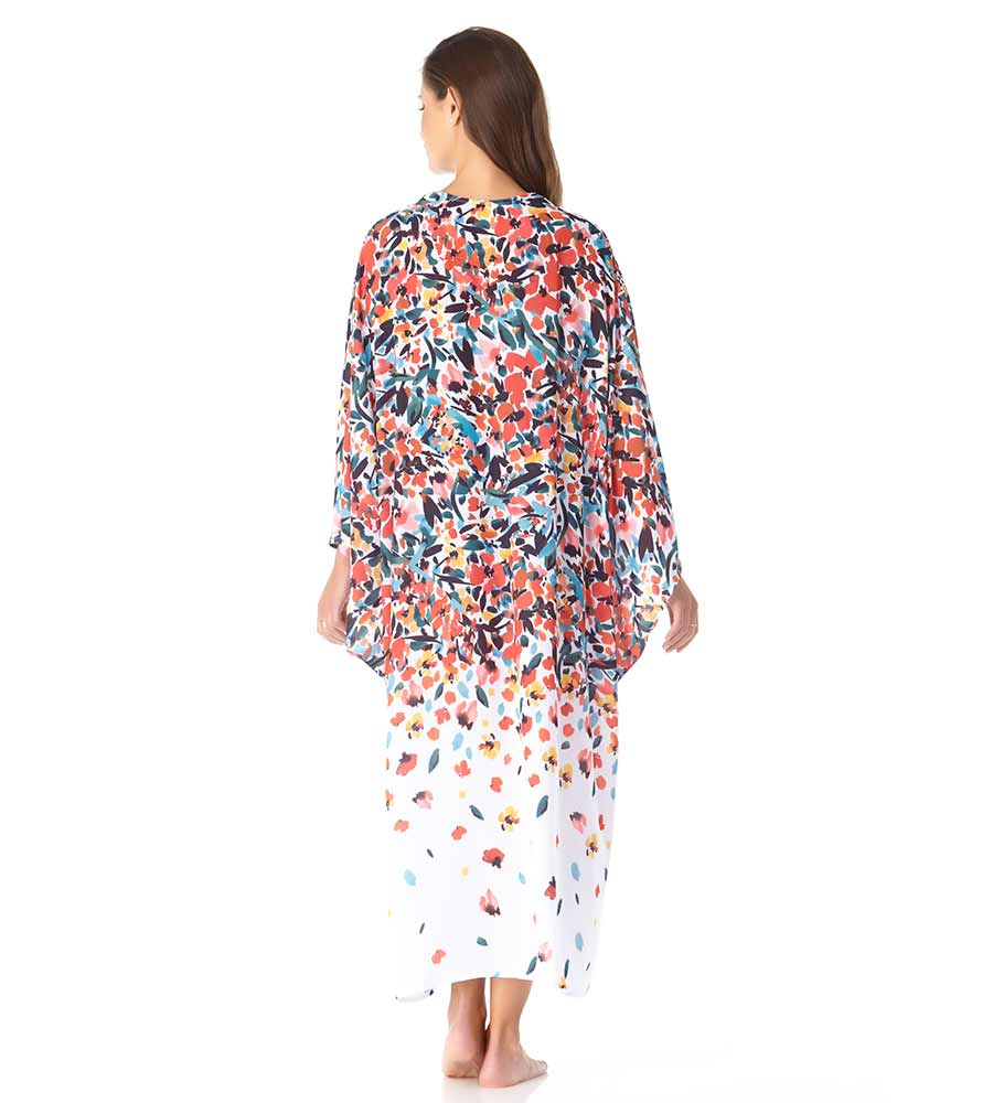SUNSET FLORAL MAXI ROBE ANNE COLE 20MC51904-MULT