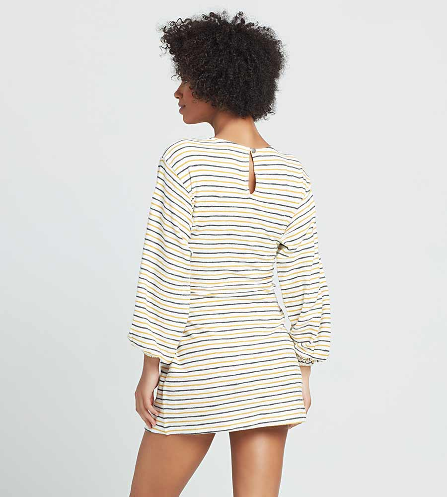 SURF'S UP STRIPE EVERYWHERE I GO DRESS LSPACE EIGDR21-SUS