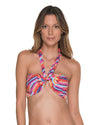 SEASIDE CHEVRON BANDEAU TOP MALAI T00362