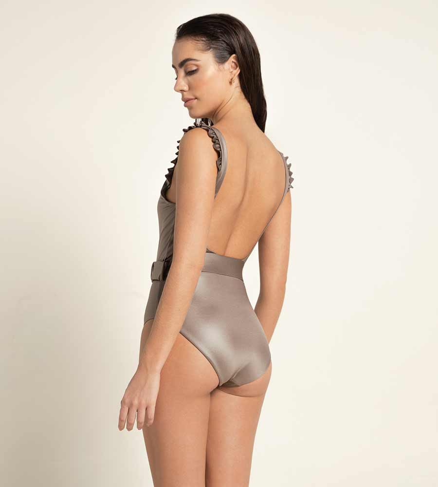 TAN PALETTE NICOLETTE ONE PIECE BY AGUA BENDITA