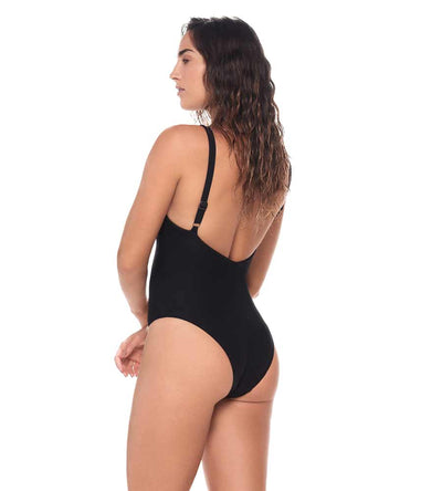 TEXTURED BLACK SAVANNA ONE PIECE MALAI O12056