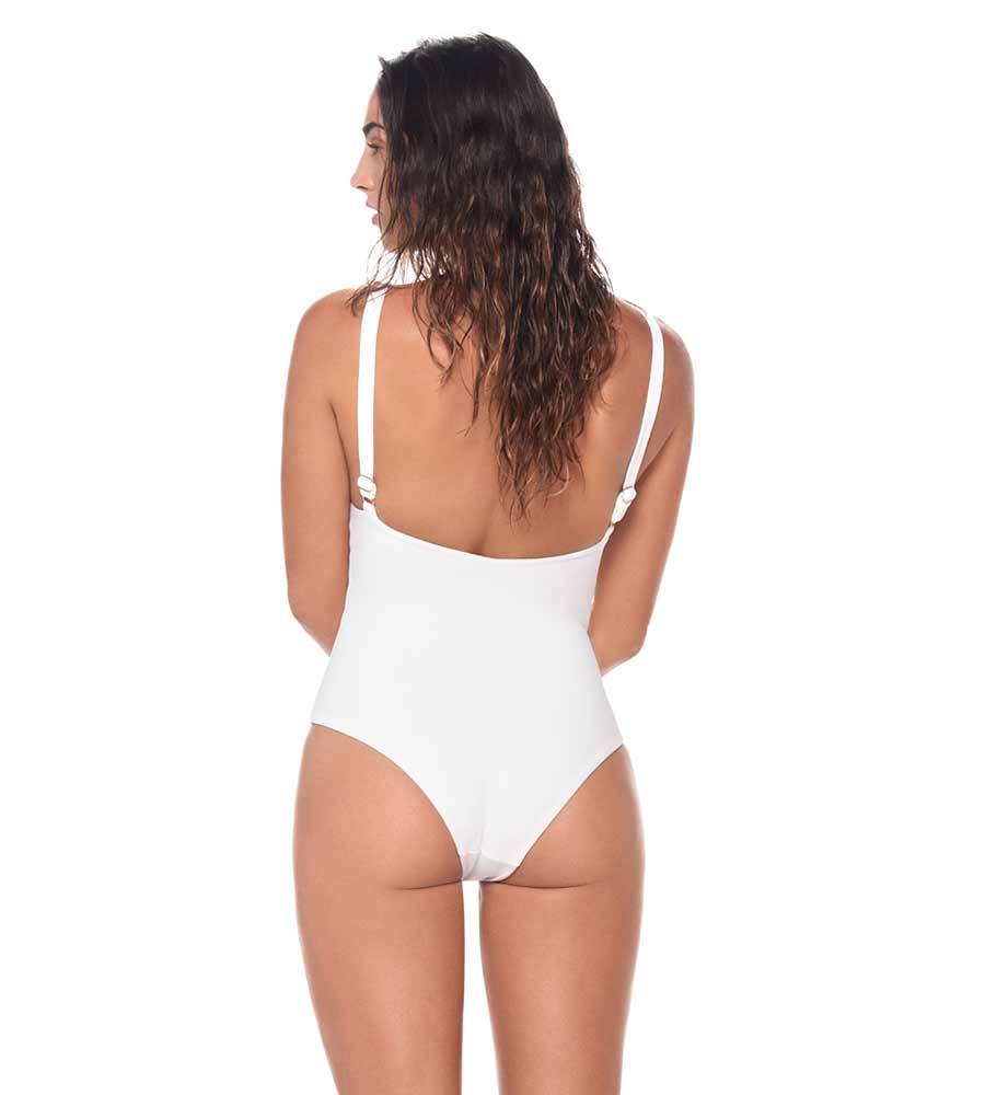 TEXTURED WHITE SAVANNA ONE PIECE MALAI O12057
