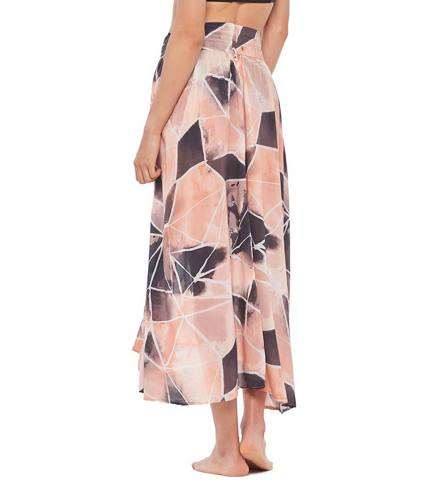 TIE DYE SUNSET ROMMY SKIRT MALAI C09030