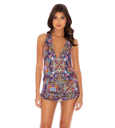 TIKI BABE T-BACK MINI DRESS LULI FAMA L660979-111