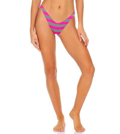 TIME TO FIESTA NEON PINK HIGH LEG BRAZILIAN BOTTOM LULI FAMA L643N50-008