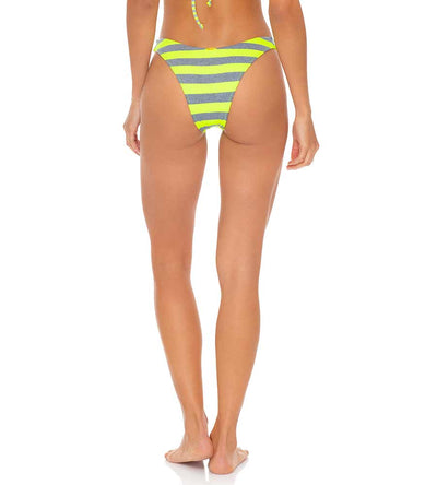 TIME TO FIESTA NEON YELLOW HIGH LEG BRAZILIAN BOTTOM LULI FAMA L643N50-025