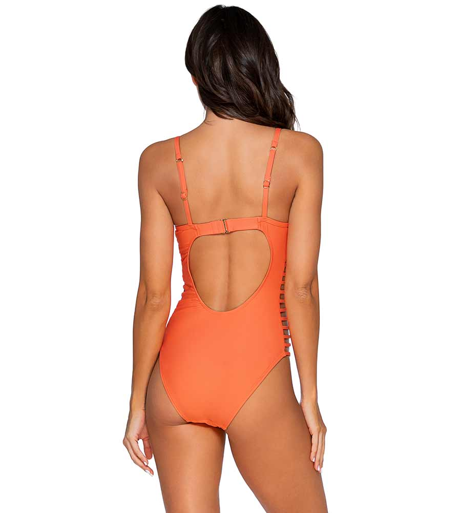 TROPICAL CORAL BORDERLINE ONE PIECE SUNSETS 115TROCO