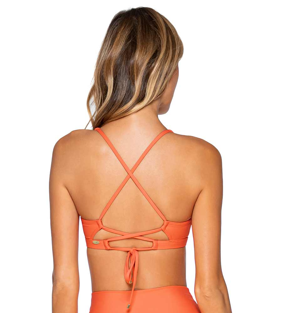TROPICAL CORAL BRANDI BRALETTE TOP SUNSETS 68TTROCO