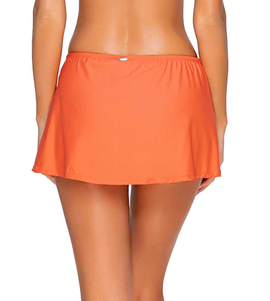TROPICAL CORAL KOKOMO SWIM SKIRT SUNSETS 36BTROCO