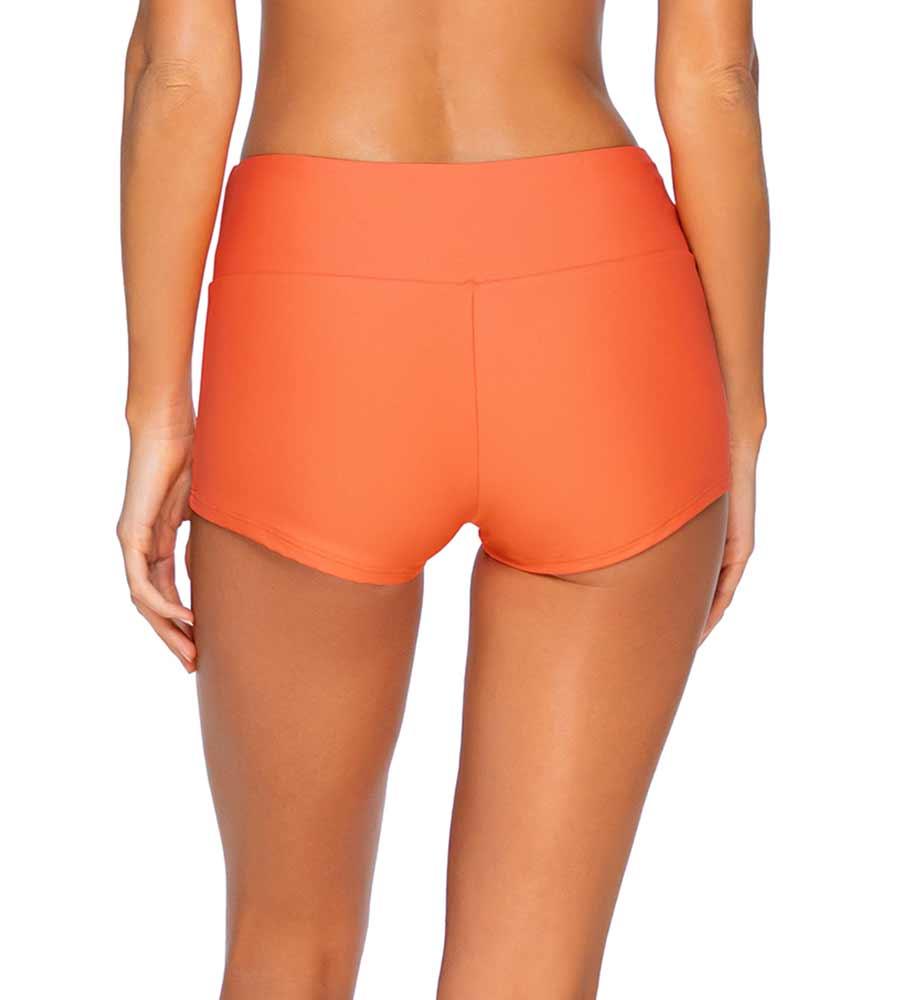 TROPICAL CORAL SEASCAPE SWIM SHORT SUNSETS 35BTROCO
