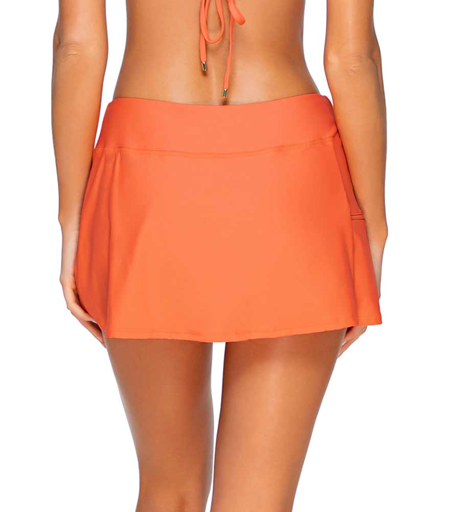 TROPICAL CORAL SPORTY SWIM SKIRT SUNSETS 40BTROCO