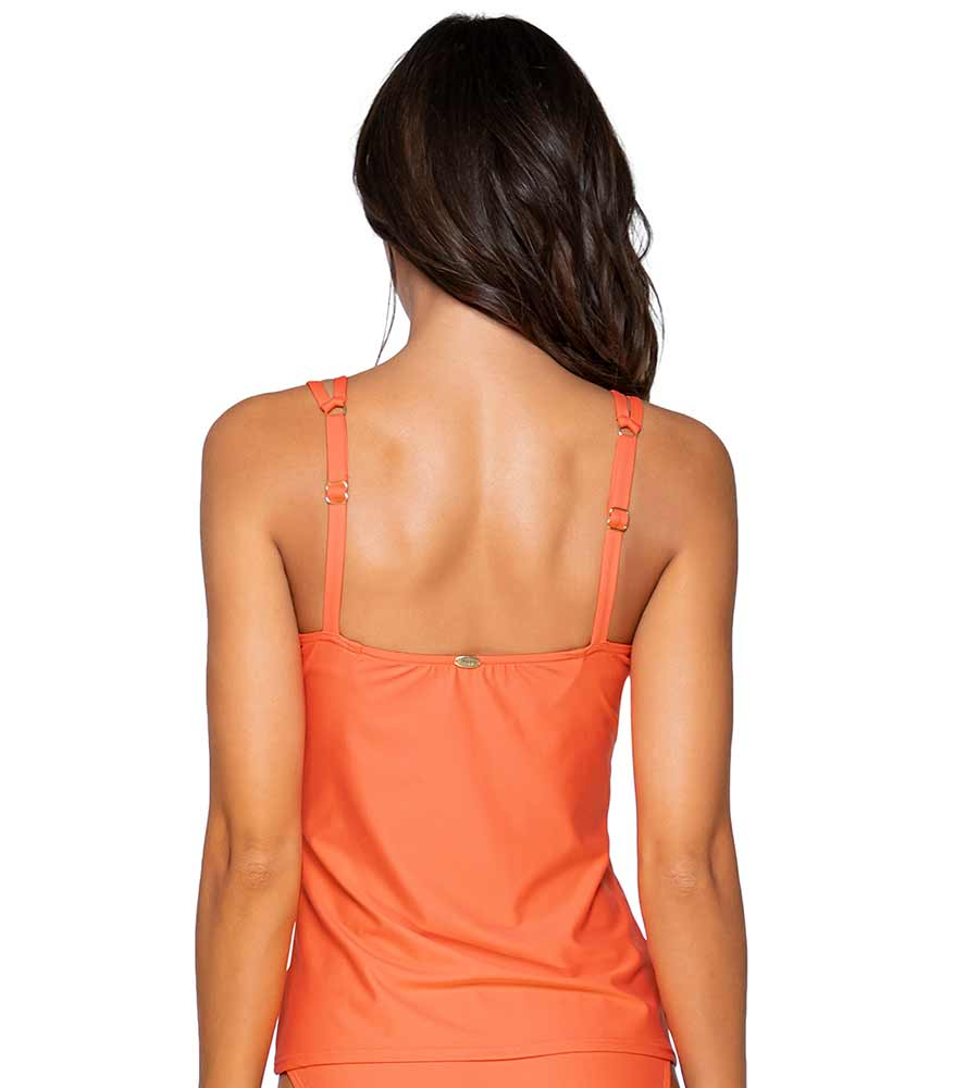 TROPICAL CORAL TAYLOR TANKINI TOP SUNSETS 75TROCO