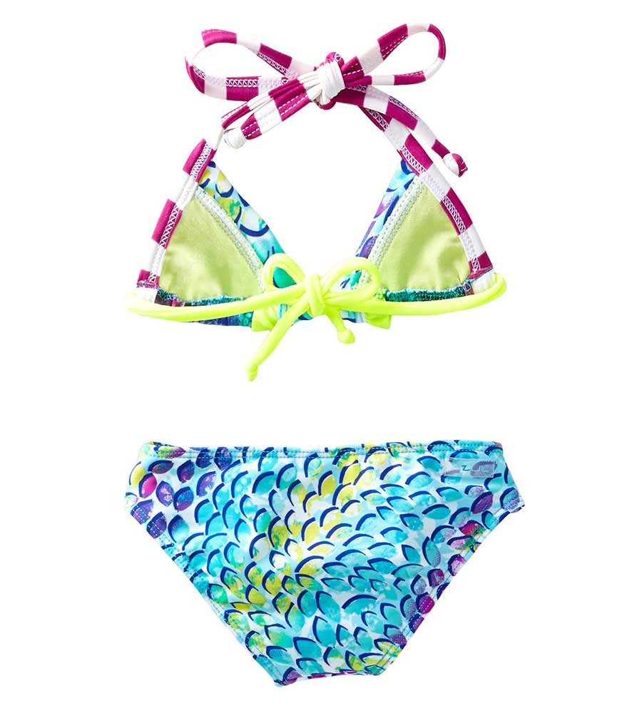 TURQUOISE IN THE MIX TRIANGLE BIKINI BY AZUL