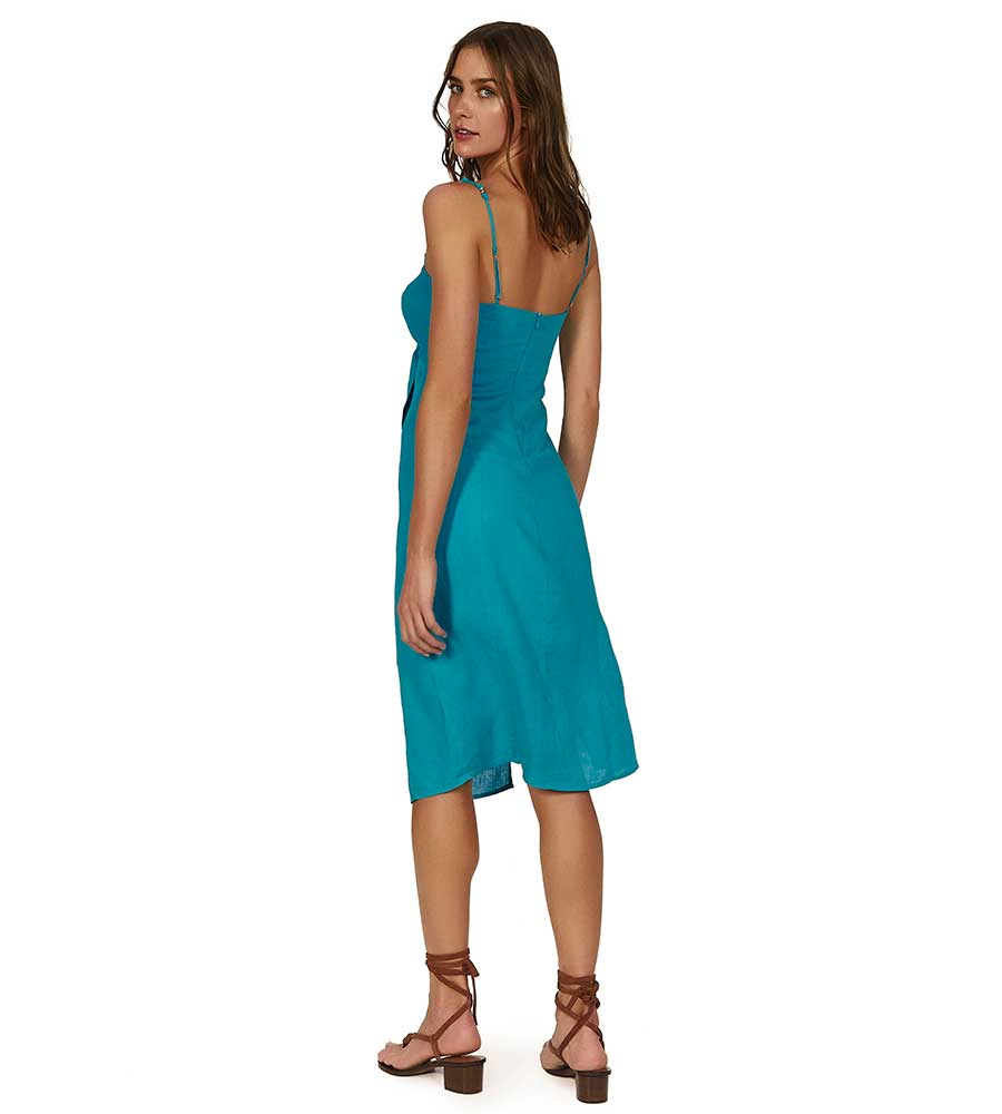 TURQUOISE TERESA MIDI DRESS VIX 329-407-051