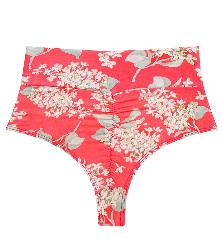 VINTAGE FLORAL HIGH RISE BIKINI BOTTOM BY MONTCE