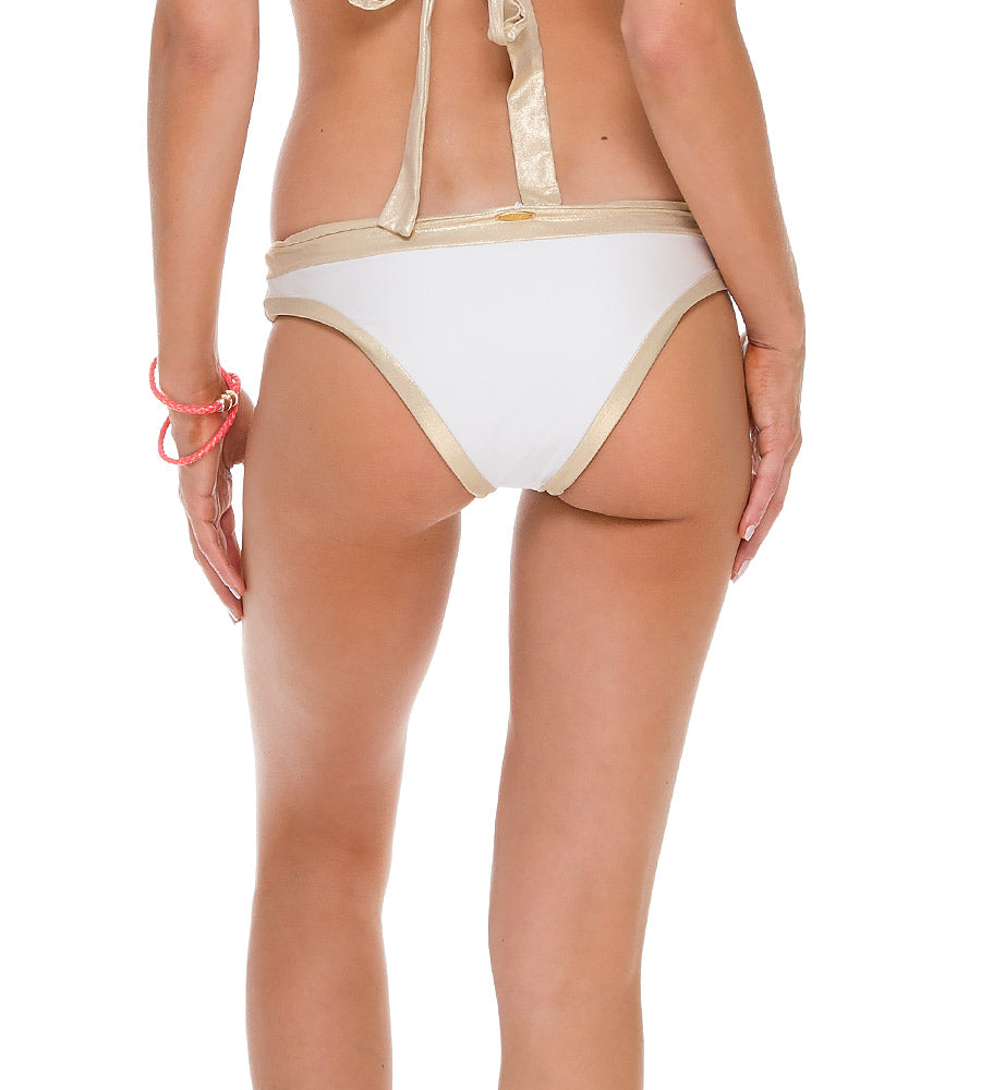 WARRIOR SPIRIT WHITE SPLIT BAND FULL BOTTOM BY LULI FAMA
