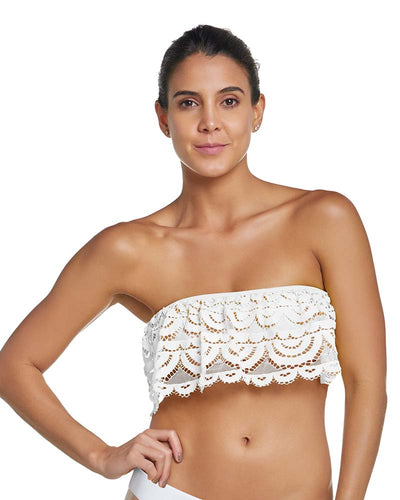 WATER LILY LACE FLUTTER BANDEAU TOP PILYQ WAT-165B