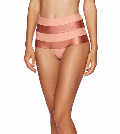 WHISKEY ROSE MONTE CARLO RHONDA HIGH WAIST BOTTOM BEACH BUNNY B19100B9-WHRS