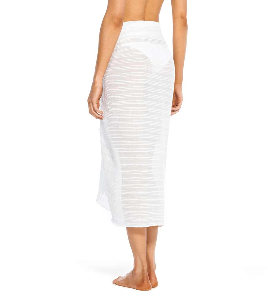 WHITE AMANDA PAREO SKIRT VIX 523-406-002