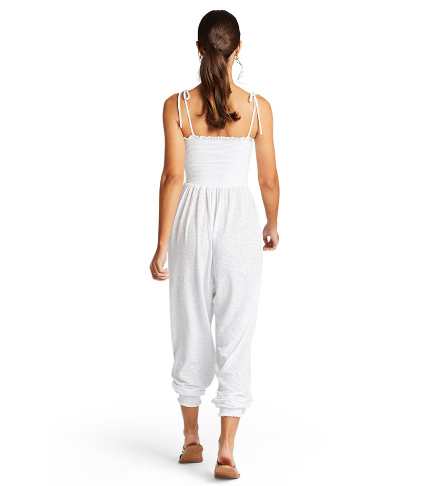 WHITE ECOCOTTON MOONLIGHT JUMPSUIT VITAMIN A 902JRCW