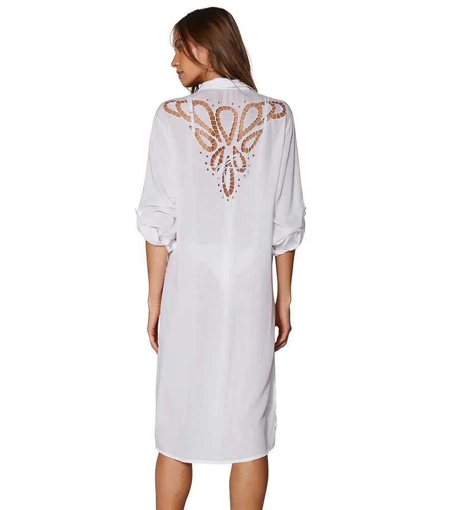 WHITE EMBROIDERY ADA CHEMISE BY VIX