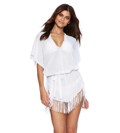 WHITE INDIAN SUMMER KAFTAN BEACH BUNNY B16130C3-WHTE