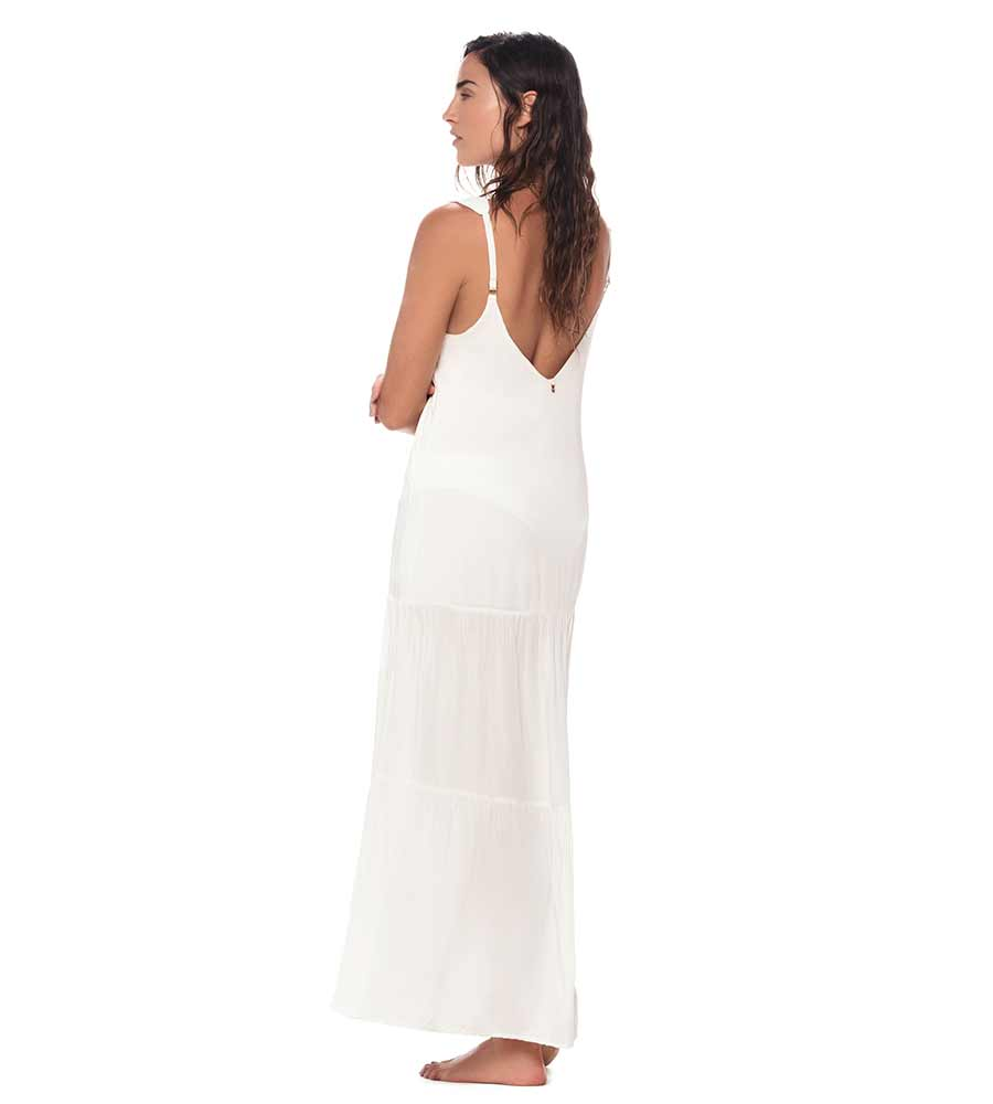 WHITE MAGGIE MAXI DRESS BY MALAI
