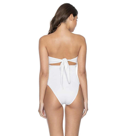WHITE PEARL DETAIL STRAPLESS ONE PIECE PILYQ WHP-556P