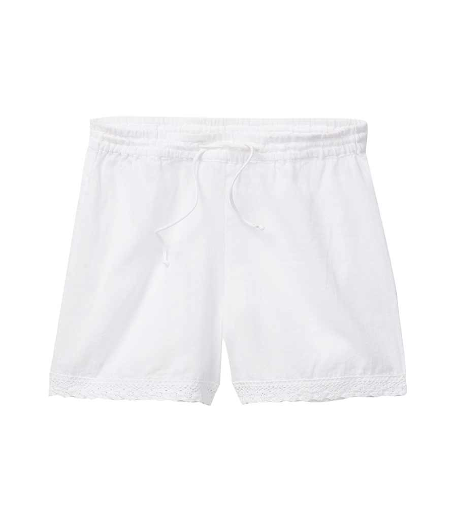 WHITE PEASANT SHORTS AZUL 4414-W