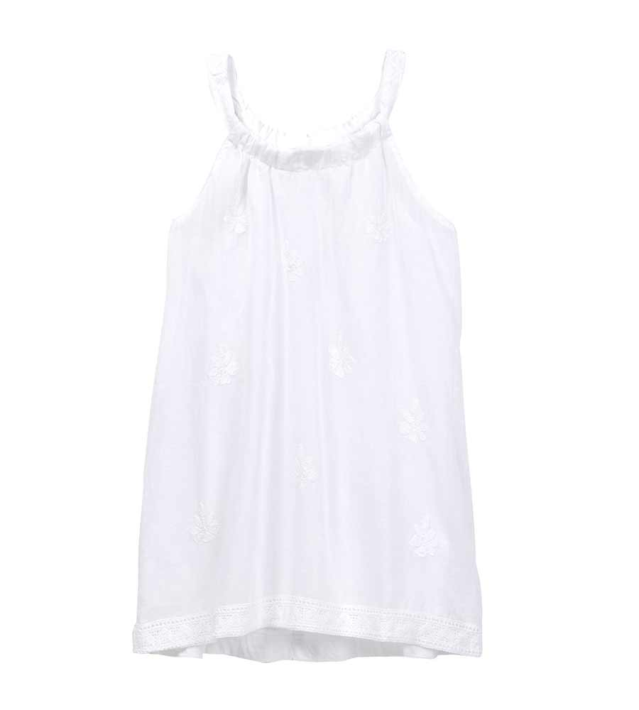 WHITE RENAISSANCE SLEEVELESS COVER UP AZUL 7290-W