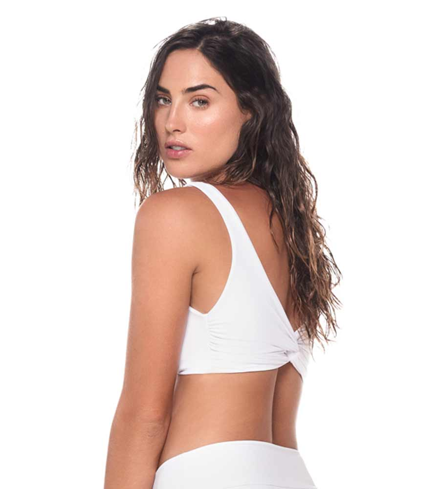 WHITE WEEKLY TOP BY MALAI