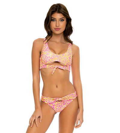 WILD SWEETHEART TIE FRONT BRAZILIAN RUCHED BOTTOM LULI FAMA L670L38-111