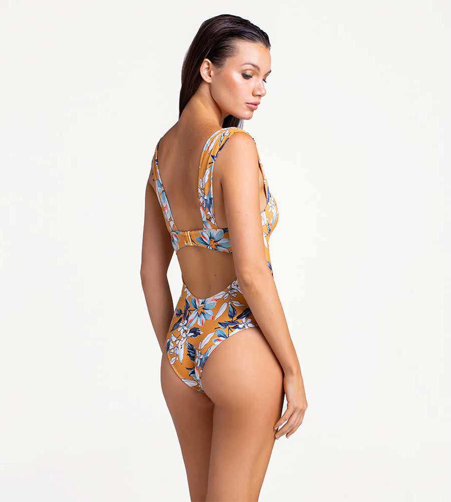 YELLOW IRIS UNDERWIRE ONE PIECE BY TOUCHE