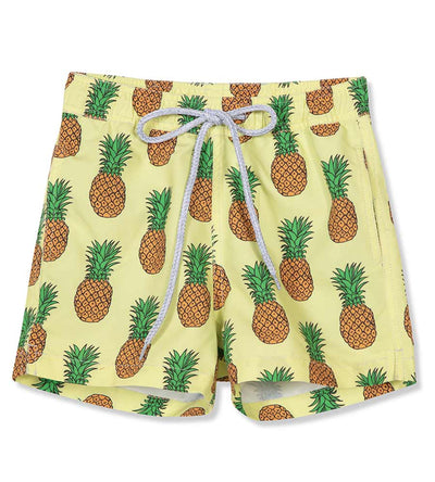 YELLOW PINEAPPLE BOYS SWIM SHORTS PILYQ YPN-712S