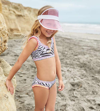 ZEBRA SPORTY RAINBOW EMBROIDERED GIRLS BIKINI PILYQ ZEB-835B