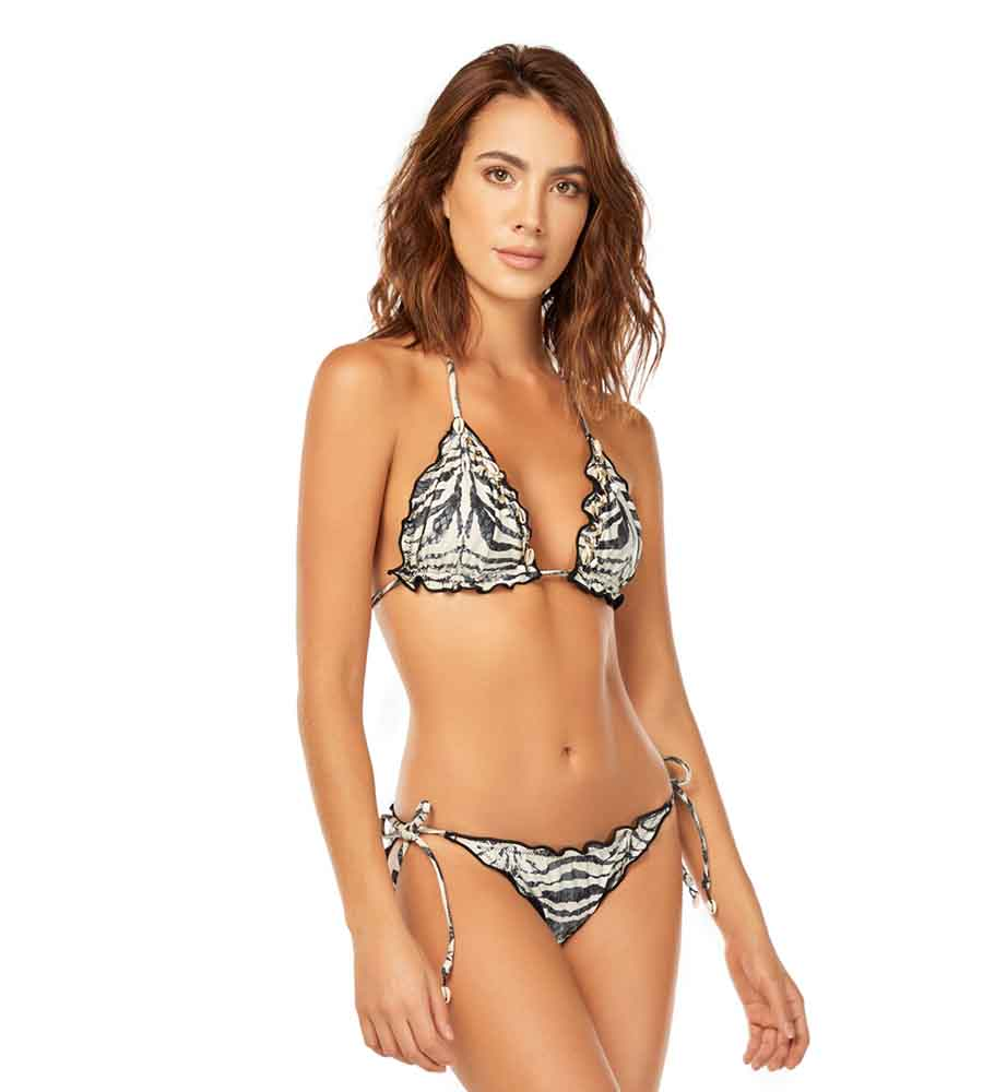 ZEBRA TIE SIDE BOTTOM BY COSITA LINDA