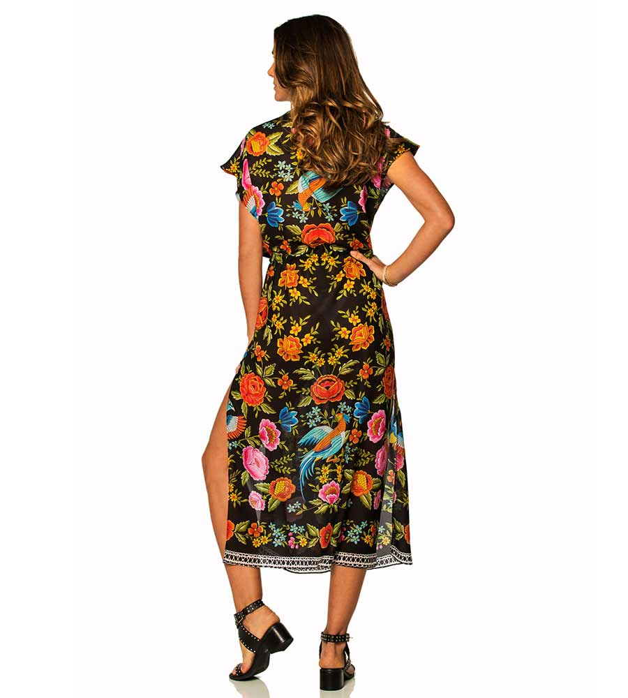 ZOEY COVERUP SPANISH PRINT SOAH ZOEY COVERUP SPANISH PRINT