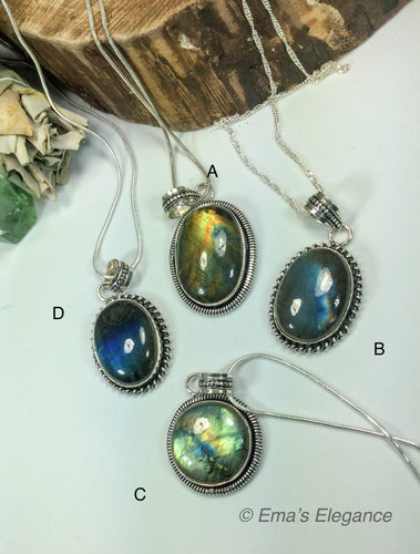 Medium Labradorite Pendants