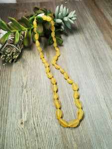 Raw Lemon Adult Baltic Amber Necklace, Pain & Inflammation